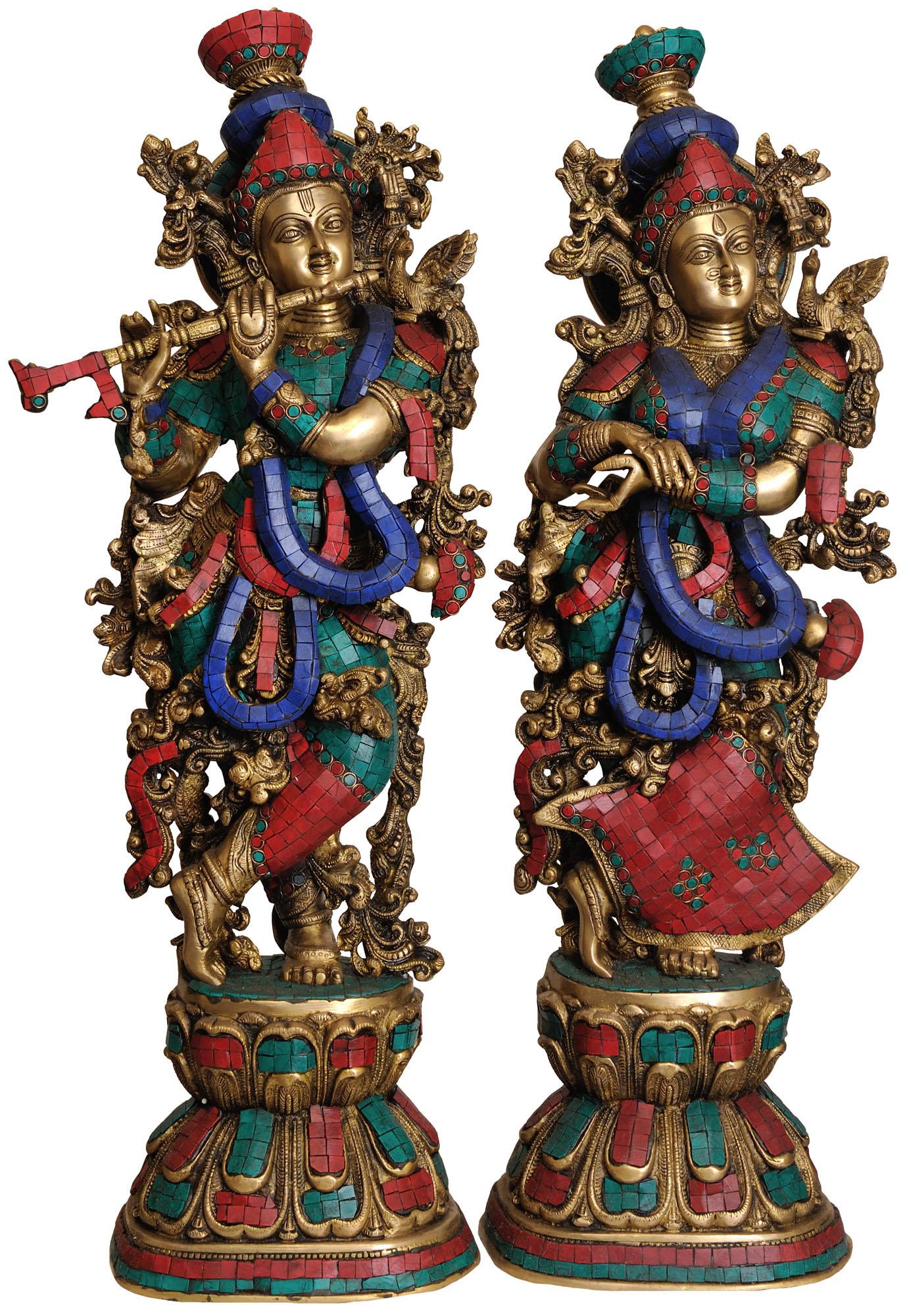 Radha Krishna Inlay Statue