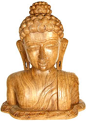 Buddha's Bust in Wood