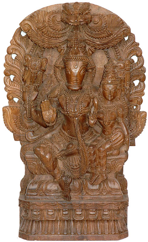 Lord Vishnu as Varaha with His Shakti
