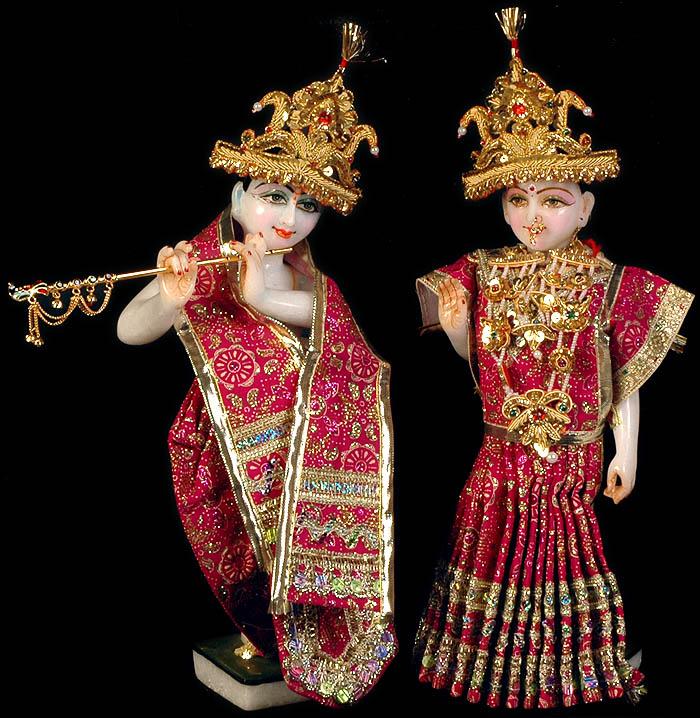 Radhey Shyam Radha And Krishna With Dress