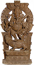 Lord Ganesha Dancing on His Rat