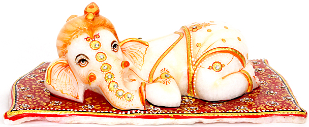 Reclining Baby Ganesha
