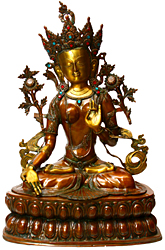 Goddess White Tara with Seven Eyes