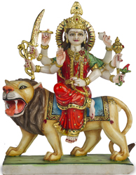 The Marble Image of Eight-Armed Durga
