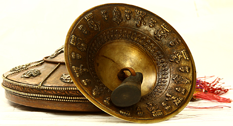 Tibetan Buddhist Monastery Cymbals with Case