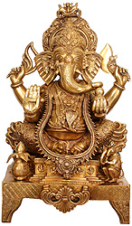 Lord Ganesha in Ekadanta Manifestation
