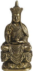 Japanese Buddha with Five Dhayni Buddhas Crown