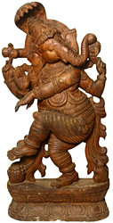 Ganesha Dances for Lord Brahma
