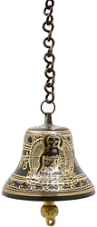 Lord Buddha Hanging Bell with Syllable Mantra