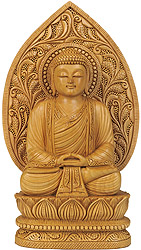 Japanese Buddha in Meditation (Finely Handcrafted Sculpture)