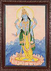 Lord Vishnu: Preserver of the Cosmos (Framed)