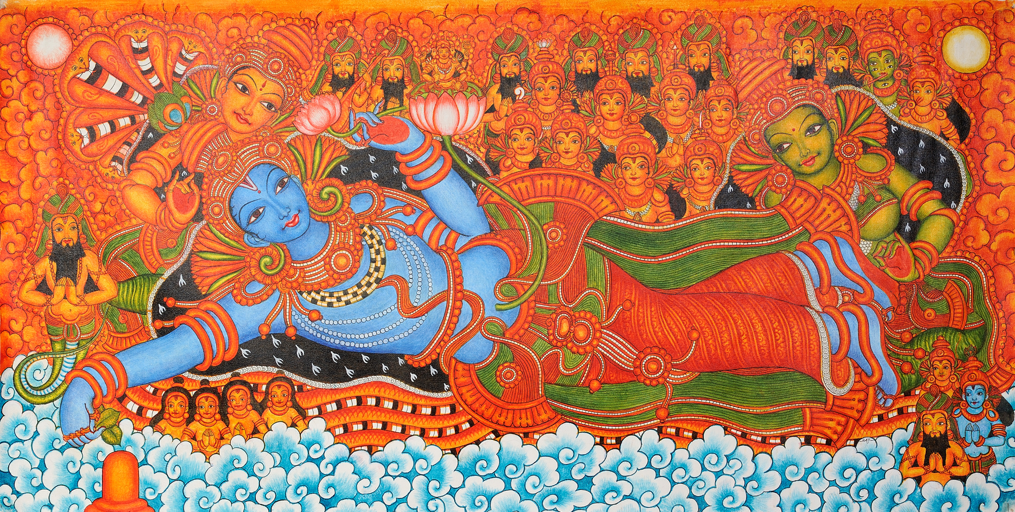 Shri padmanabha for Art mural painting
