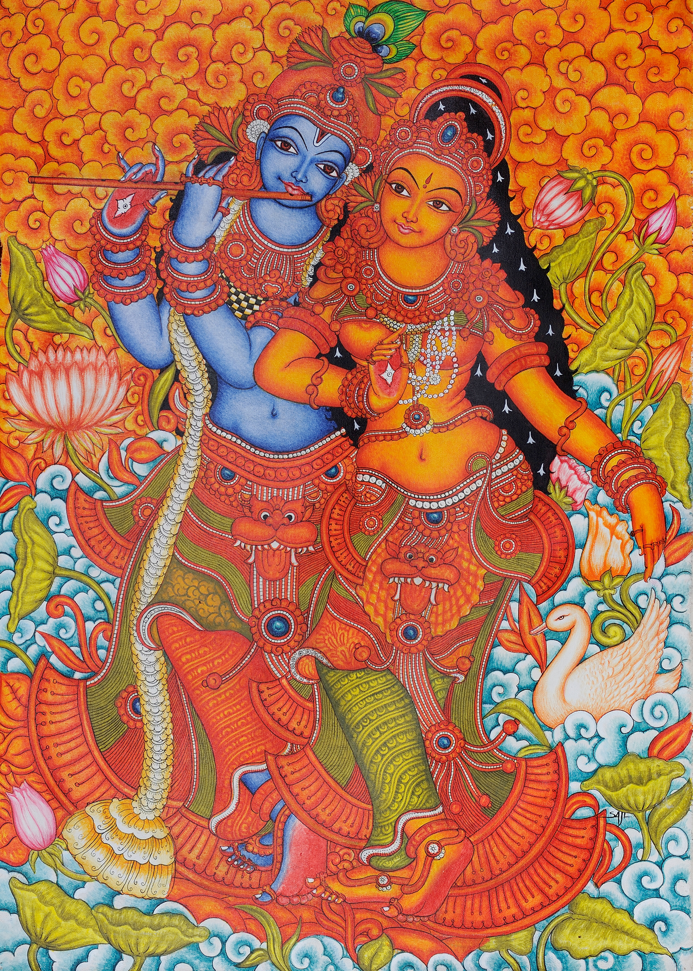 Radha krishna for Mural art designs