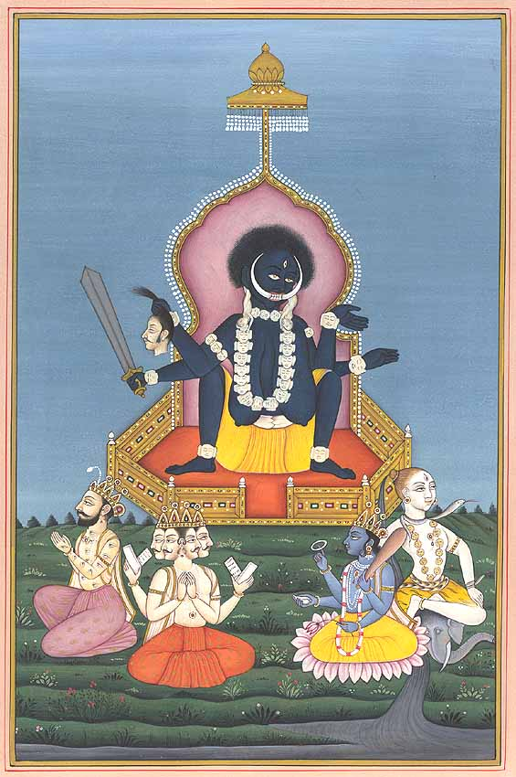 Goddess Kali In The Birth Giving Posture