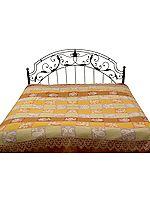 Double-Sided Pure Wool Jamawar Bedspread