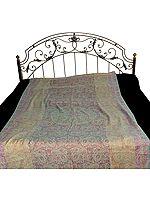 Single Bed Pure Wool Jamawar Bedspread
