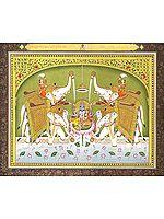 Abhisheka of Lakshmi-Narayana