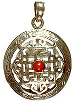 Mandala Pendant with Central Coral