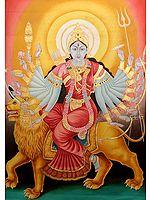 Eighteen-armed Goddess Durga