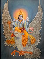 Lord Vishnu's Descent from Vaikuntha