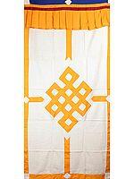 The Endless Knot (Ashtamangala) - Tibetan Altar Curtain