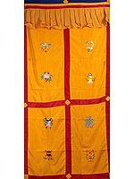 Tibetan Buddhist Ashtamangala  Altar Curtain