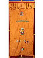 Embroidered Ashtamangala Altar Curtain
