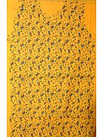 Yellow Two-Piece Suit with All-Over Kantha Stitch Embroidery