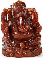 Lord Ganesha (Carved in Red Aventurine)