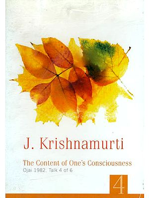 J. Krishnamurti: The Content of One's Consciousness (DVD)
