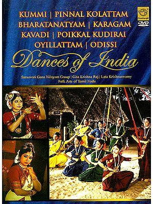 Dances of India: Kummi, Pinnal Kolattam, Bharatanatyam, Karagam, Kavadi, Poikkal Kudirai Oyillattam, Odissi (DVD)