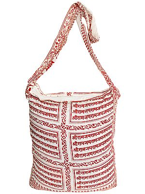 Shoulder Jhola Bag with Sri Ram Nama Mantra