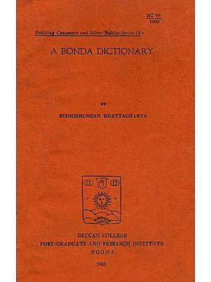A Bonda Dictionary (An Old and Rare Book)