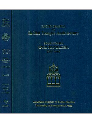South India Upper Dravidadesa Early Phase - Encyclopaedia of Indian Temple Architecture (Set of 2 Books) - An Old and Rare Books