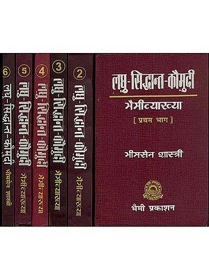 लघु सिद्धान्त कौमुदी: Laghu Siddhanta Kaumudi - Bhaimi Vyakhya (Set of 6 Volumes)