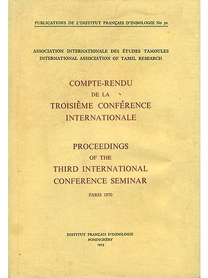 Compte-Rendu De La Troisieme Conference Internationale (Proceedings of the Third International Conference Seminar) - An Old and Rare Book