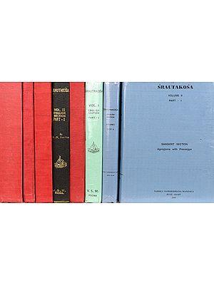 Srautakosa (Encyclopedia of Vedic Sacrificial Ritual Sanskrit and English) (In Eight Volumes)(An Old Book)
