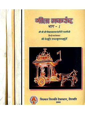 गीता मकरंद: A Detailed Commentary on The Gita (Set of 4 Volumes)