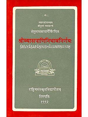 श्रीव्यासपाणिनिभावनिर्णय: Sri Vyasa Panini Bhava Nirnayah (A Rare Book)