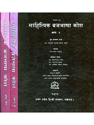 साहित्यिक ब्रजभाषा कोश: Braja Bhasha Kosha - An Old and Rare Book (Set of 3 Volumes)
