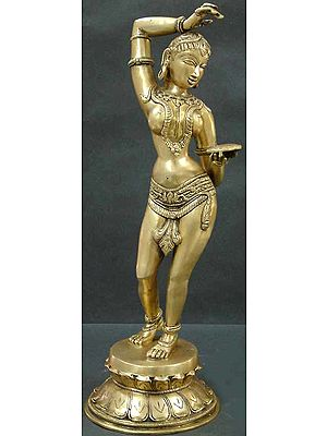 The Apsara Applying Vermilion (A Sculpture Inspired by Khajuraho)