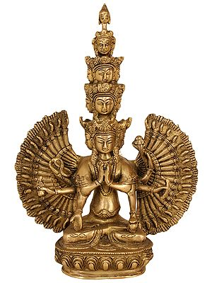 Tibetan Buddhist Deity Eleven Headed Avalokiteshvara
