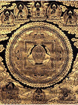 Super Large Mandala of Eleven-Headed Avalokiteshvara - Tibetan Buddhist