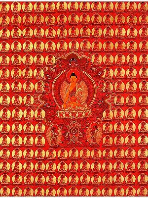 Tibetan Buddhist Thousand Buddhas Wall