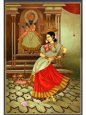 The Dancer's Homage to Krishna