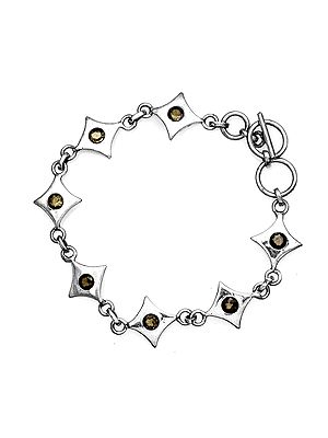 Star Bracelet with Faceted Gemstone