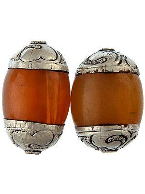 Amber Dust Beads (Price Per Pair)