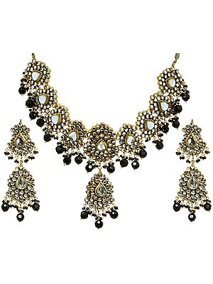 Kundan Choker with Earrings Set