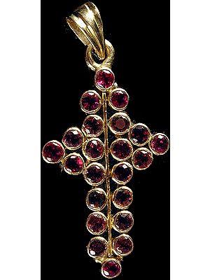 Pink Tourmaline Cross Pendant