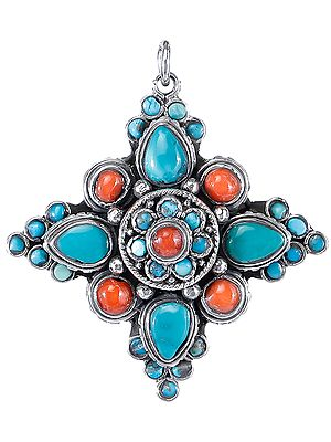 Pendant with Gemstones from Nepal
